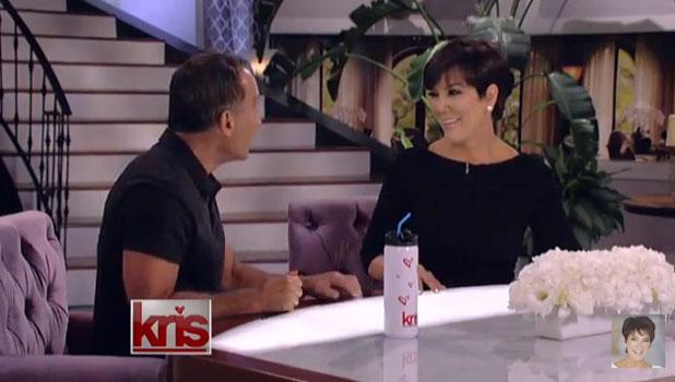 Kris Jenner and co-host Harvey Levin on the Kris Jenner Show, 13 August 2013