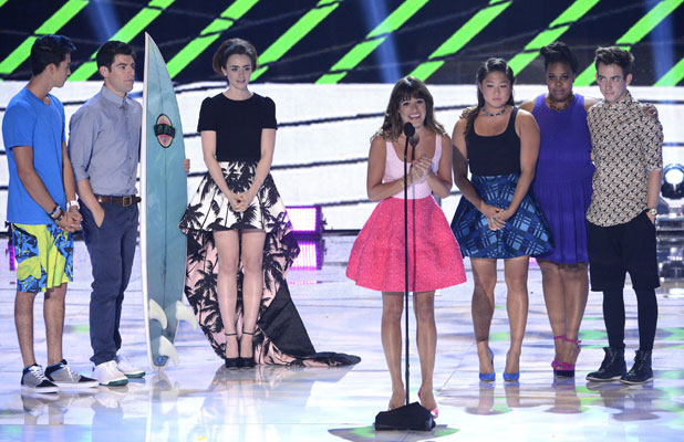 Lea Michele and the Glee cast at the 2013 Teen Choice Awards, Show, Los Angeles, America - 11 Aug 2013