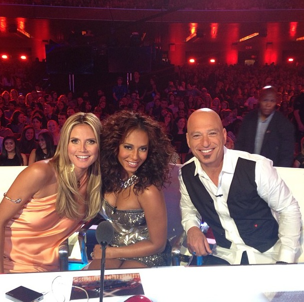 Mel B on America's Got Talent with Heidi Klum 13 August 2013