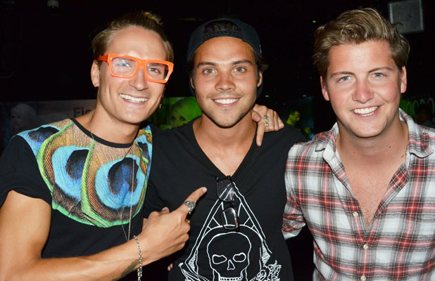 Celebrities attend the Fiona Culley showcase held at the Voodoo Vaults Embassy. Andy Jordan debuts his singing career with Fiona Culley. PersonInImage:Oliver Proudlock,Andy Jordan,Stevie Johnson Credit :Joe Alvarez Date Created :08/13/2013 Location :London, United Kingdom