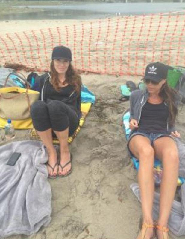 Victoria Beckham on Malibu beach, 9 August 2013