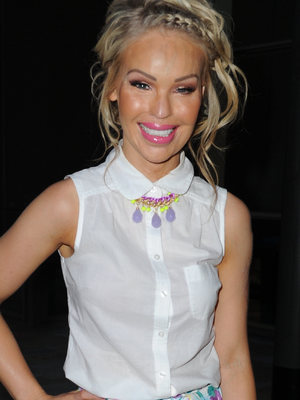 Katie Piper - Celebrities leave Media City after fliming 'Gok Live: Stripping for Summer' - Manchester. 9 July 2013