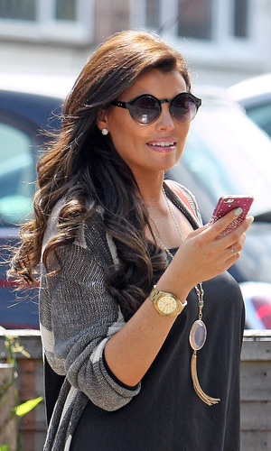 Jessica Wright of TOWIE setting off for the HD Music Festival at Fairlop Waters,Essex. 29 June 2013