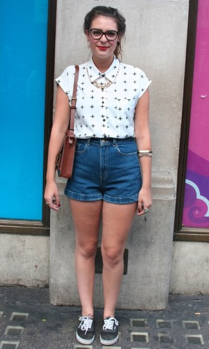 Street style: Jana Germanu, August 2013