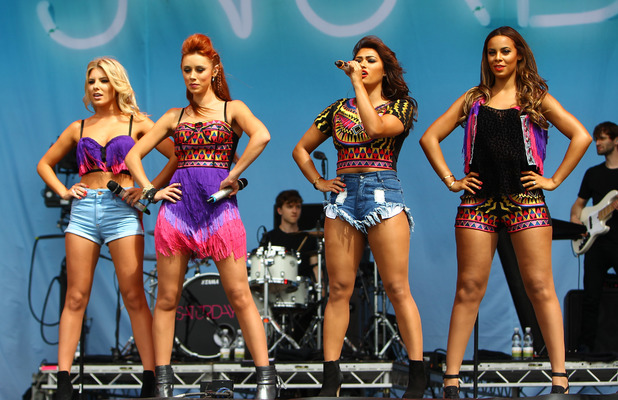 The Saturdays, Una Healy, Vanessa White, Rochelle Humes, Mollie King - The Saturdays open the main stage of V Festival day 2 in Hylands Park, Chelmsford