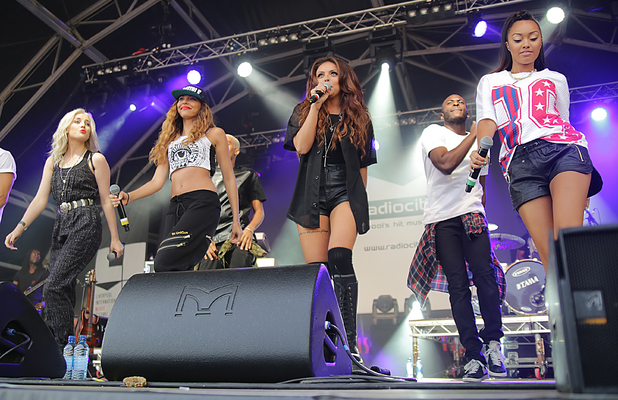 Little Mix performing at The Pier Head, Liverpool International Music Festival 2013