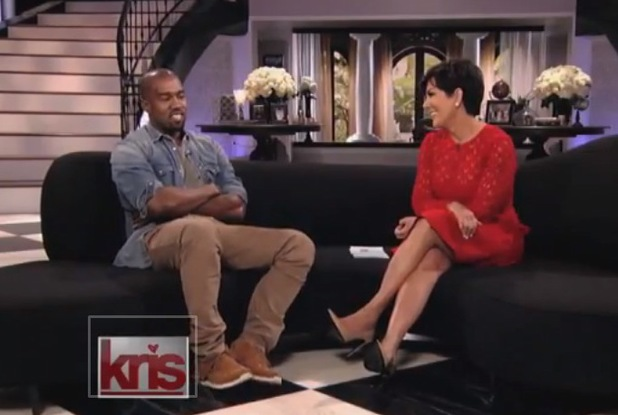 Kanye West appears on Kris Jenner's talk show, Kris - 23 August 2013