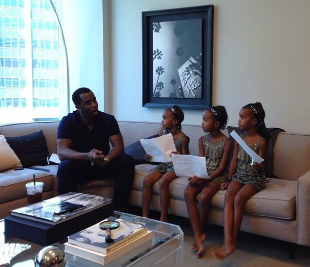 Diddy and daughter in the office - 20 August 2013