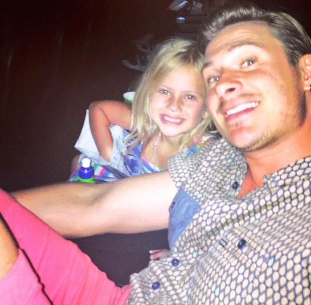 Lee Ryan and daughter Bluebell pictured watching Smurfs 2 together - 21 August 2013