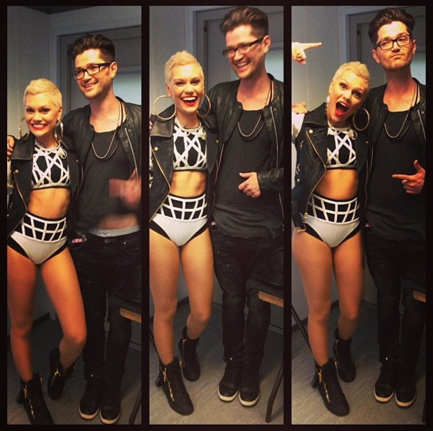 Jessie J and Danny O'Donoghue at V Festival