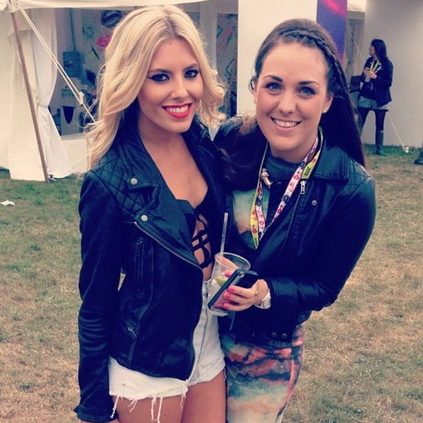 Mollie King at V Festival, 17 August, Chelmsford Essex