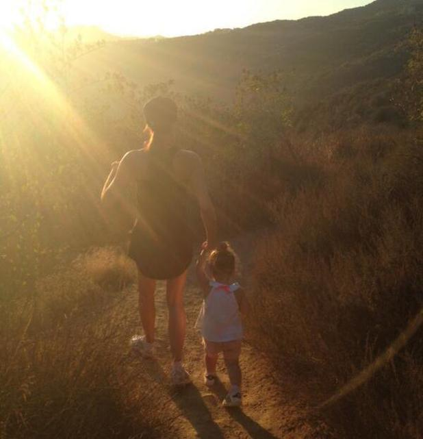 Victoria Beckham and Harper hiking in Los Angeles - 22 August 2013