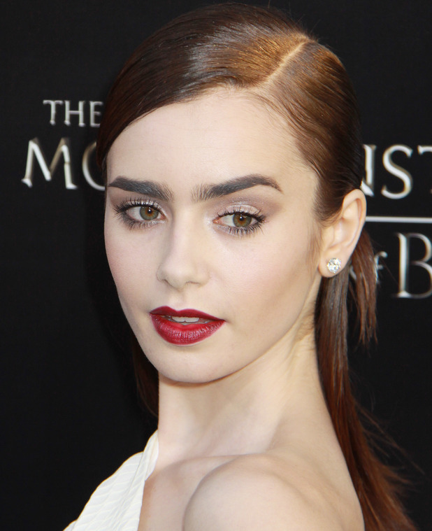 Lily Collins, Premiere of Screen Gems & Constantin Films' 'The Mortal Instruments: City of Bones' at ArcLight Cinemas Cinerama Dome, 12 August 2013