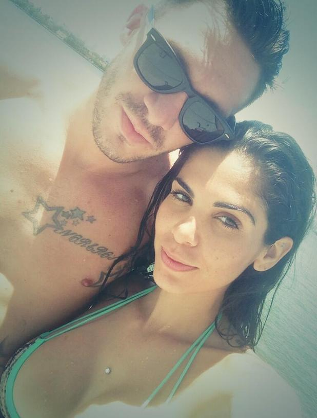 Kirk Norcross and Cami Li pictured on beach in Miami before flying to UK - 20 August 2013