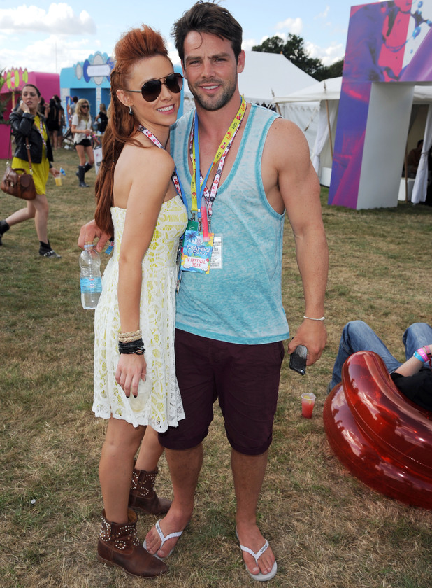 Una Healy and Ben Foden in the Virgin Media Louder Lounge 18 Aug 2013