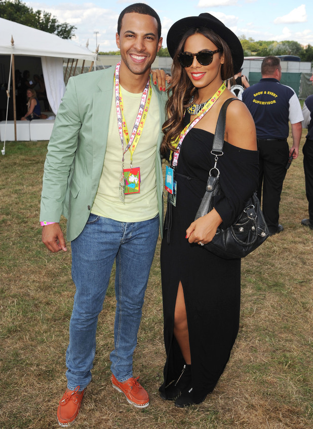 Marvin and Rochelle Humes in the Virgin Media Louder Lounge 18 Aug 2013