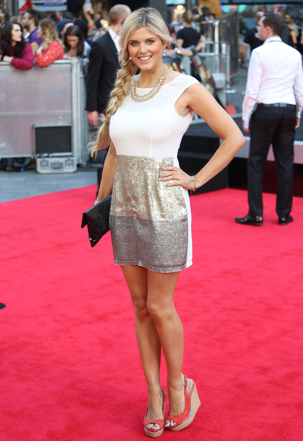 Ashley James at  World premiere of 'One Direction: This Is Us' 20 August, London