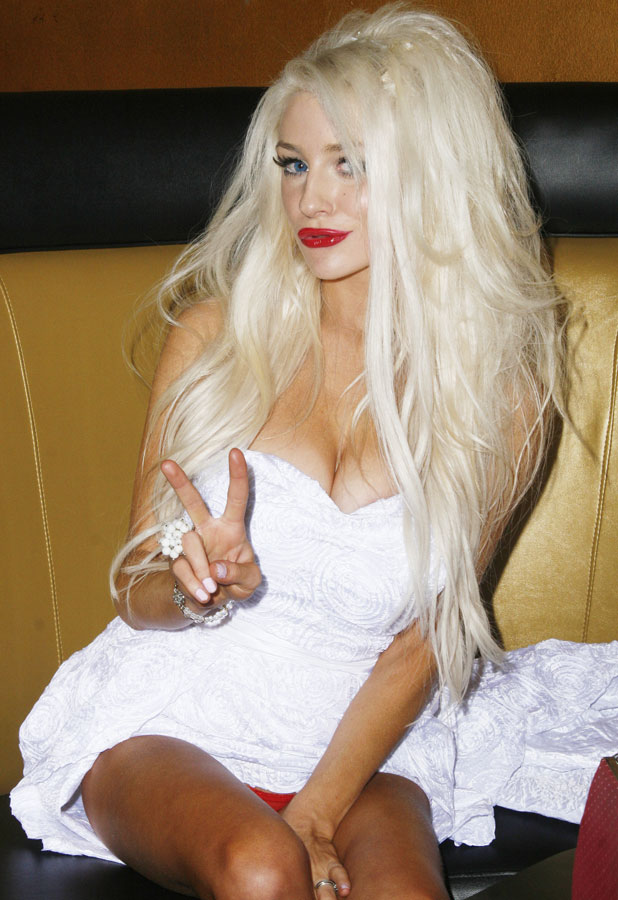 American reality television personality Courtney Stodden parties with friends at Shekeharrahate's Haute Couture Fashion Show