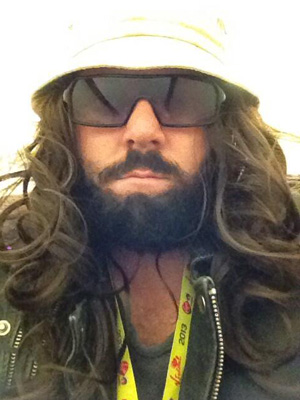 Leigh Francis in disguise at V Festival, Hylands park