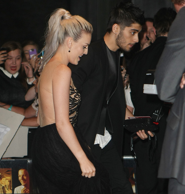 Celebrities at the Sanderson Hotel for One Direction's After Party PersonInImage:	Zayn Malik, Perrie Edwards Credit :	WENN.com Special Instructions : Date Created :	08/20/2013