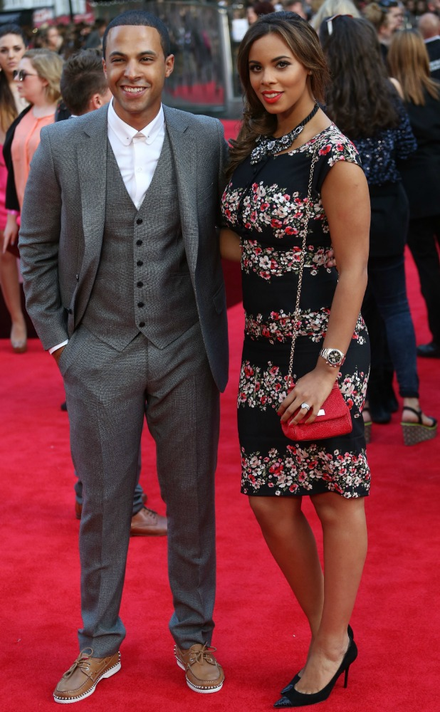 Rochelle and Marvin Humes at One Direction premiere, 20 August 2013