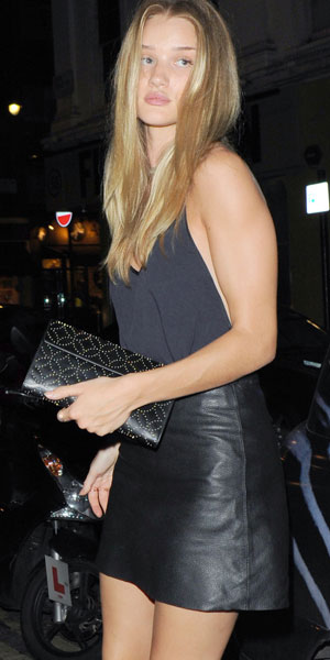 Rosie Huntington-Whiteley out in London 16/08/13