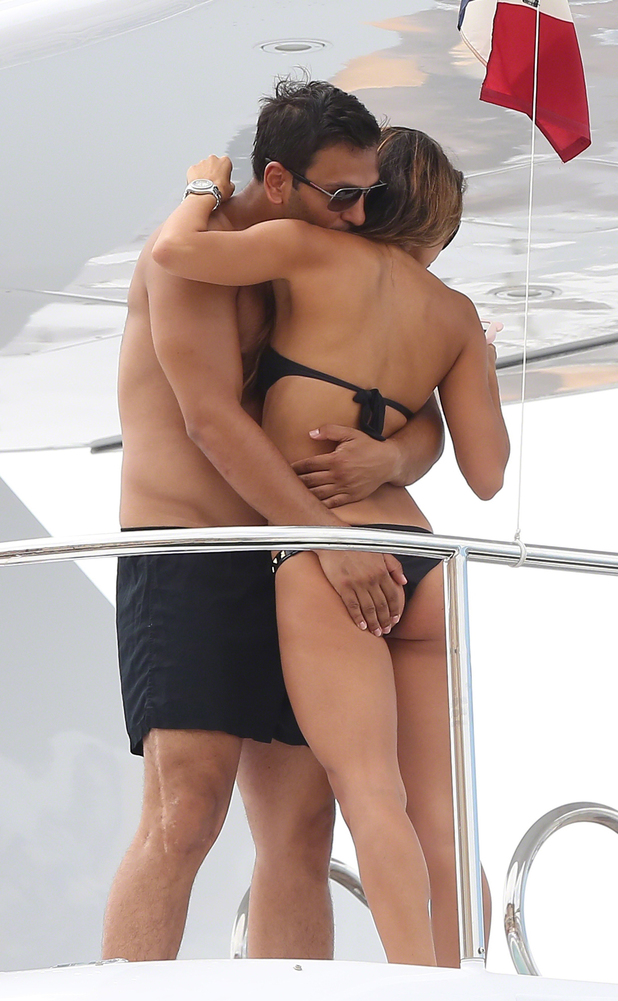 Joe Fournier is seen with ex-page 3 model Leilani Dowding on a boat in St Tropez.