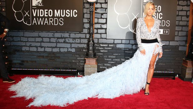 Rita Ora arrives at MTV Video Music Awards 2013