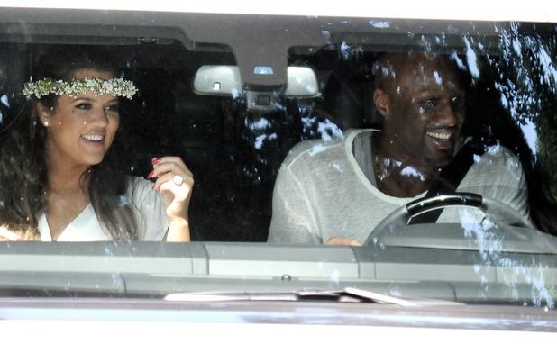 Khloe Kardashian, Lamar Odom at Kim Kardashian's baby shower - 2 June 2013