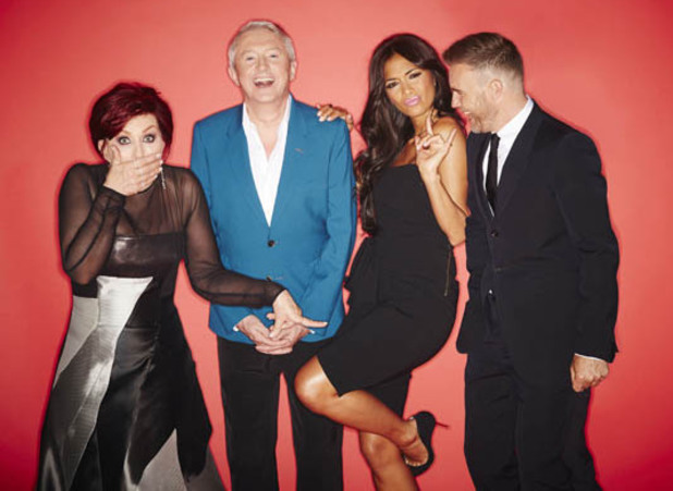 Gary Barlow, Sharon Osbourne, Nicole Scherzinger and Louis Walsh - The X Factor