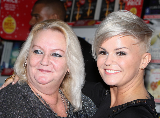 erry Katona poses with her mother Sue during her book signing Kerry Katona signs copies of her new book 'Still Standing' at the W.H.Smiths book store in her hometown of Warrington. London, England- 30.11.12