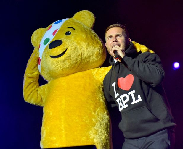 Gary Barlow and Pudsey Bear at Blackpool Illuminations Switch-On
