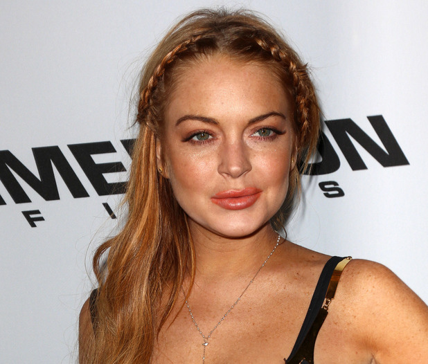 Lindsay Lohan at premiere of 'Scary Movie 5' at ArcLight Cinemas Cinerama Dome in Hollywood