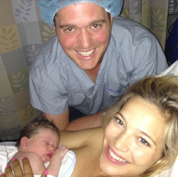 Michael Bublè and wife Luisana Lopilato welcome son