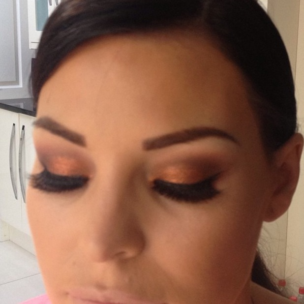 Jessica Wright make-up before Lipsy Event, 29 August