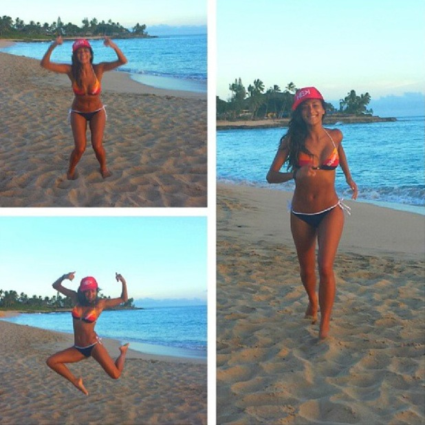 Nicole Scherzinger in Superdry bikini whilst in Hawaii, Instagram 28 August