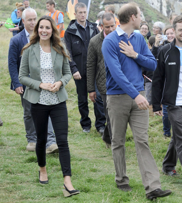 Duke and Duchess of Cambridge attend the Ring of Fire marathon at Breakwater country park in Holyhead, Anglesey, Wales, Britain - 30 Aug 2013