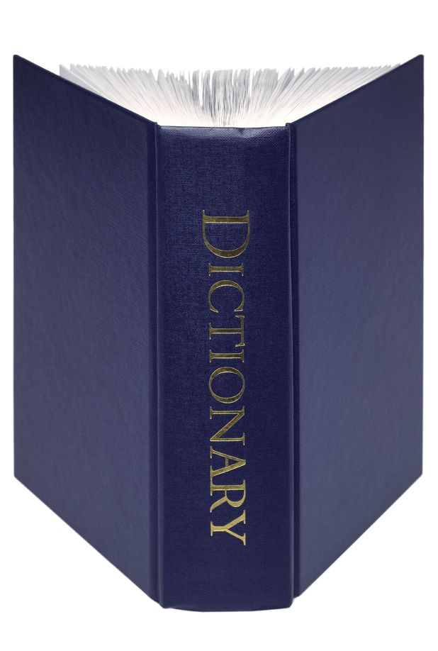 Image of generic blue dictionary