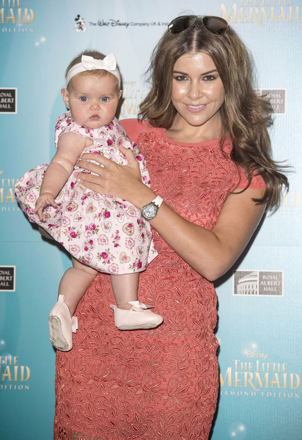 Imogen Thomas and daughter Ariana Siena attend 'The Little Mermaid' Blu-Ray film premiere at Royal Albert Hall, London, Britain - 29 Aug 2013