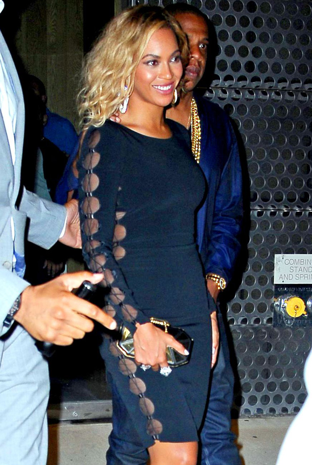 Celebrities arriving at the Dream hotel for VMAs after party, New York, America - 25 Aug 2013 Beyonce Knowles and Jay-Z 25 Aug 2013