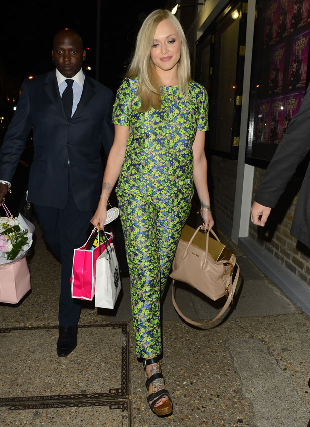 Fearne cotton dress on celebrity juice last night