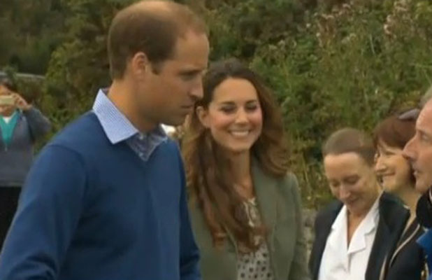 Kate Middleton's first post-birth appearance, Anglesey 30 August 2013