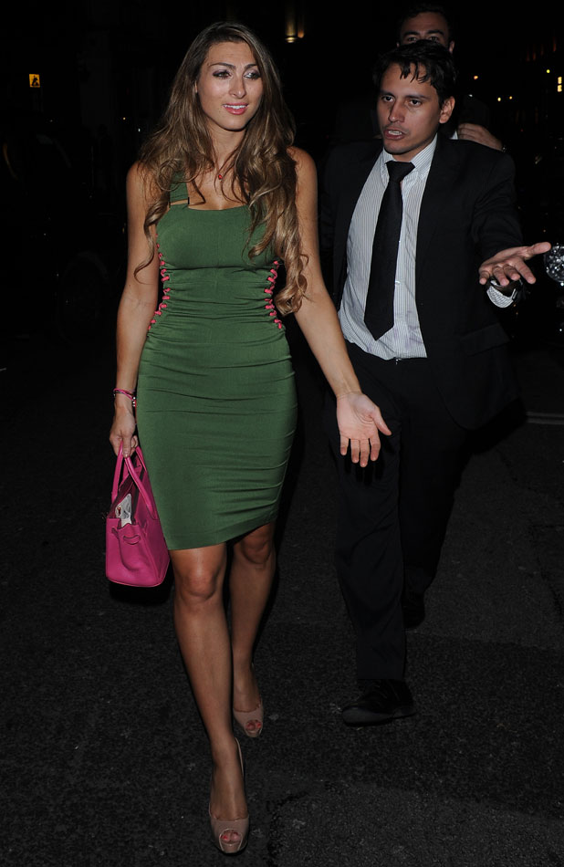 Luisa Zissman is seen leaving Mahiki Nightclub in London after a night out with friends. The Apprentice Runner up was seen smiling and laughing and joking with photographers as she left the club. 29 August 2013