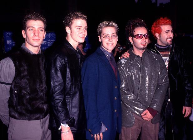 N Sync: Justin Timberlake, JC Chasez, Joey Fatone, Lance Bass, Chris Kirkpatrick at the MTV Video Music Awards 1999 New York 9/9/99 Pic Credit: WENN/ Sidewalk