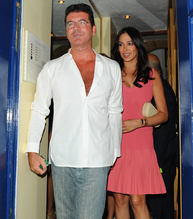 Simon Cowell and Lauren Silverman out for dinner at Italian restaurant Scalini in Chelsea, 28 August 2013