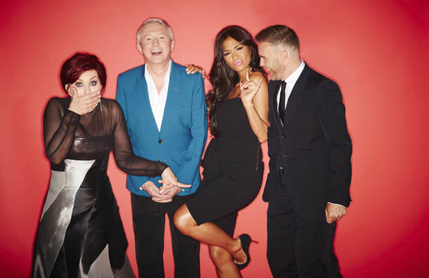 Gary Barlow, Sharon Osbourne, Nicole Scherzinger and Louis Walsh - The X Factor