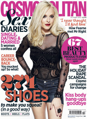 Fearne Cotton for Cosmopolitan's October 2013 issue