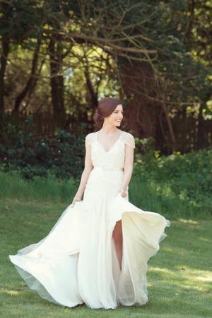 Caroline on her wedding day