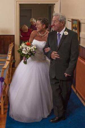Jessie on her wedding day