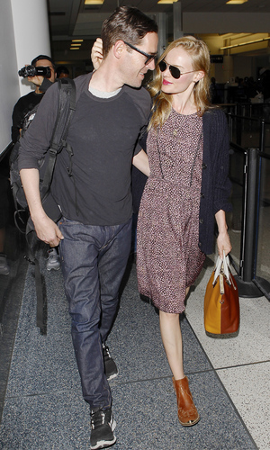 Newlyweds Kate Bosworth and Michael Polish arrive at LAX airport Credit :WENN.com Date Created : 09/03/2013 Location : Los Angeles, United States